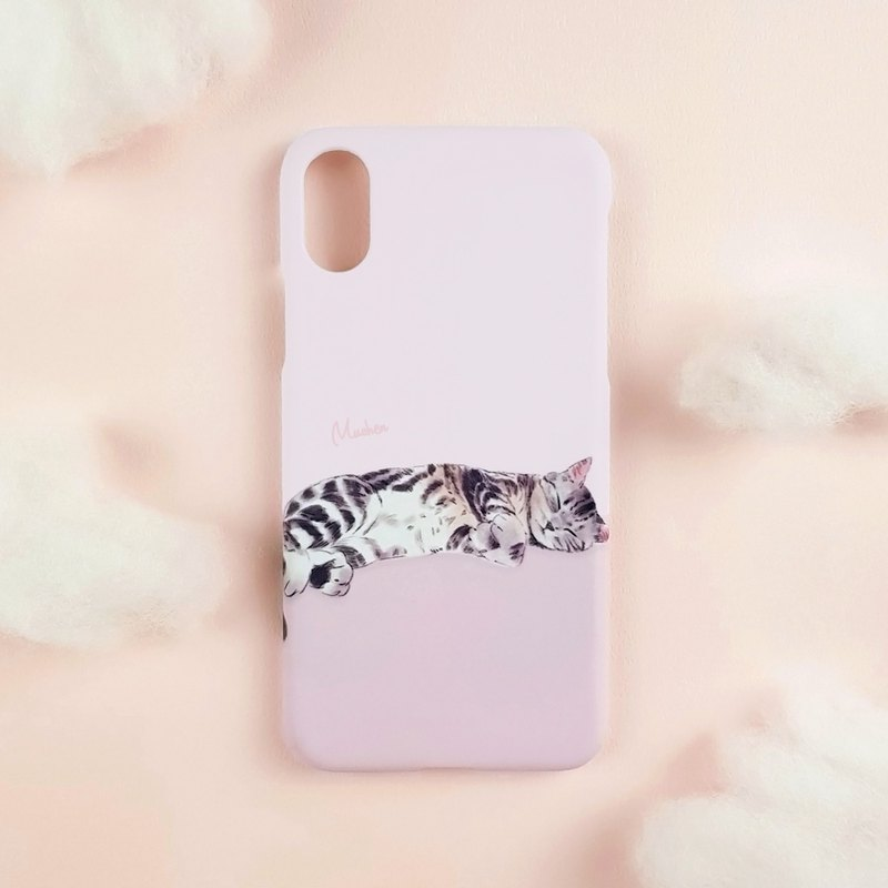 Sleeping beautiful short cat (iPhone.Samsung Samsung, HTC, Sony. ASUS mobile phone case cover)