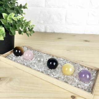 Crystal Ball - Amethyst Citrine Obsidian White Crystal Powder Crystal Yellow Tiger Eyestone Office Device Decoration