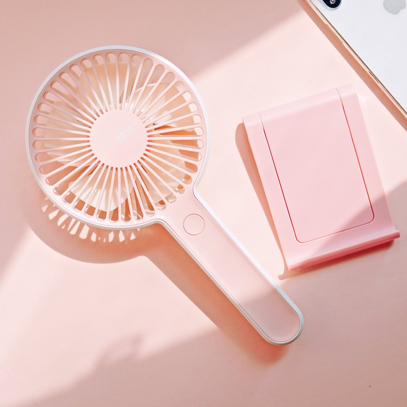 Colorful summer gift group | summer breeze with fan + mobile phone / tablet 360 degree desktop stand