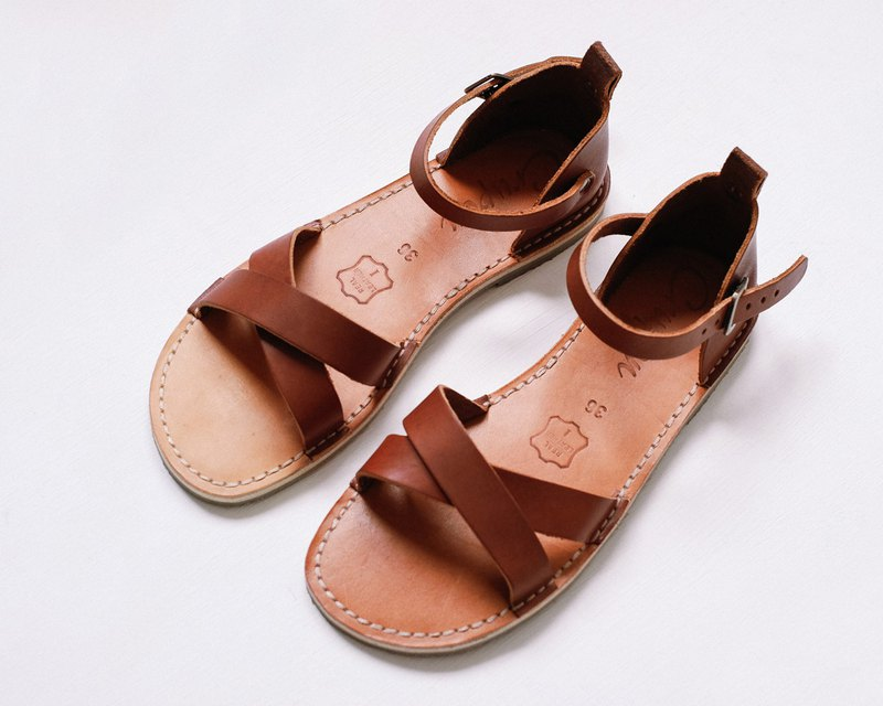 Brown Sandals, Summer Leather Sandals, Women Sandals, Summer Shoes