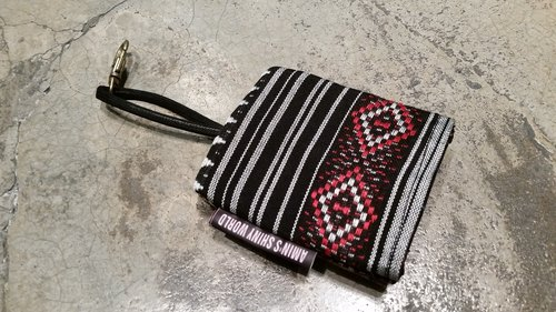 AMIN'S SHINY WORLD handmade custom national wind coarse weave Wallets