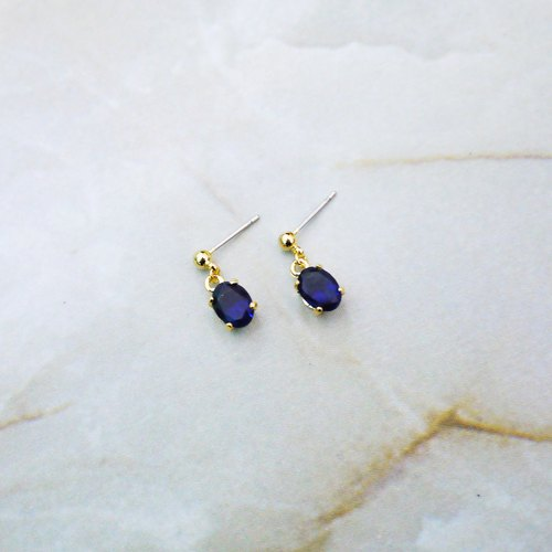 Sapphire Blue Tears Drop Earrings