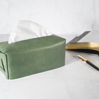 [Italian imported capital vegetable tanned leather paper cover] CROSS leather / vegetable tanned dark green