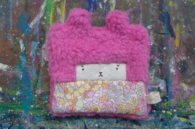 Duo Rabbit Coin Purse - Yellow Strawberry Paradise - Pink Hair -2018015