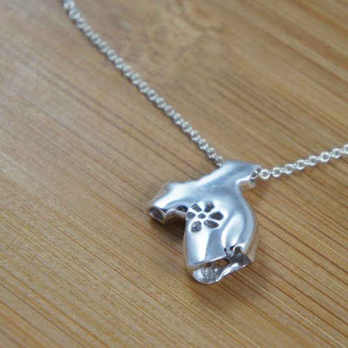 [If sub] clothes mood - silver necklace