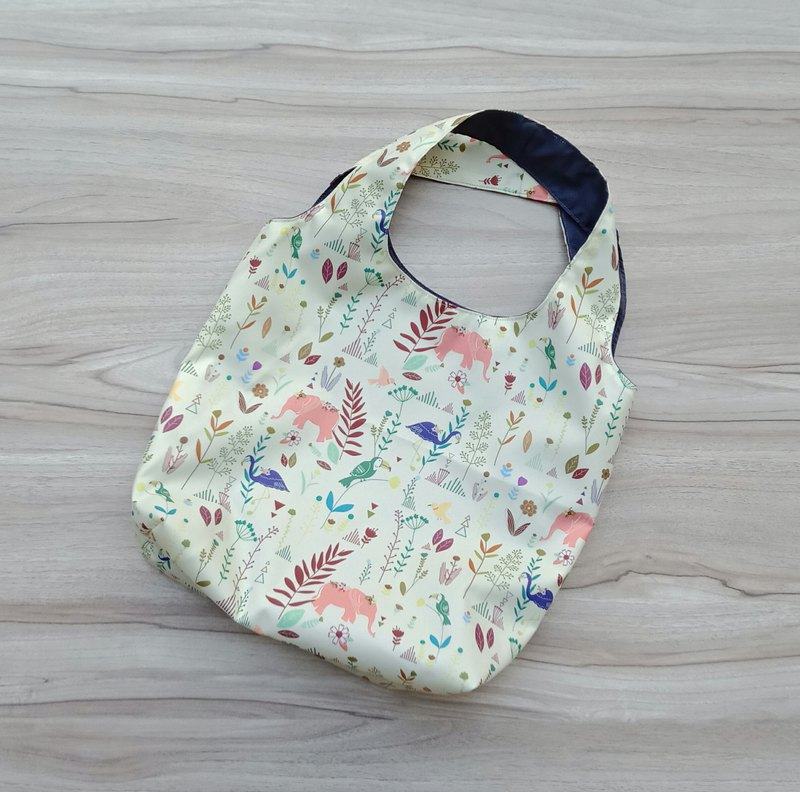 [waterproof shopping bag] elephant flower and bird