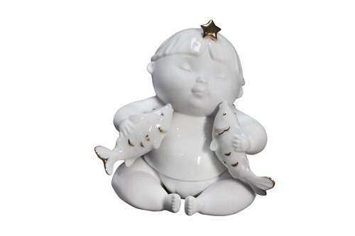 1300│12 Constellation porcelain doll series - Pisces _ _ fine porcelain decorations