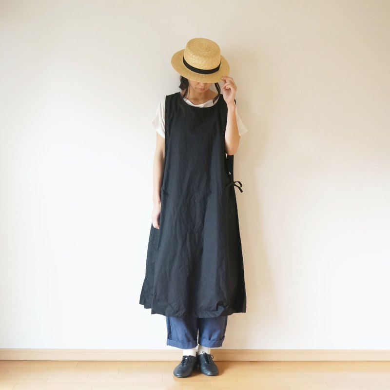 Linen apron one-piece ladies
