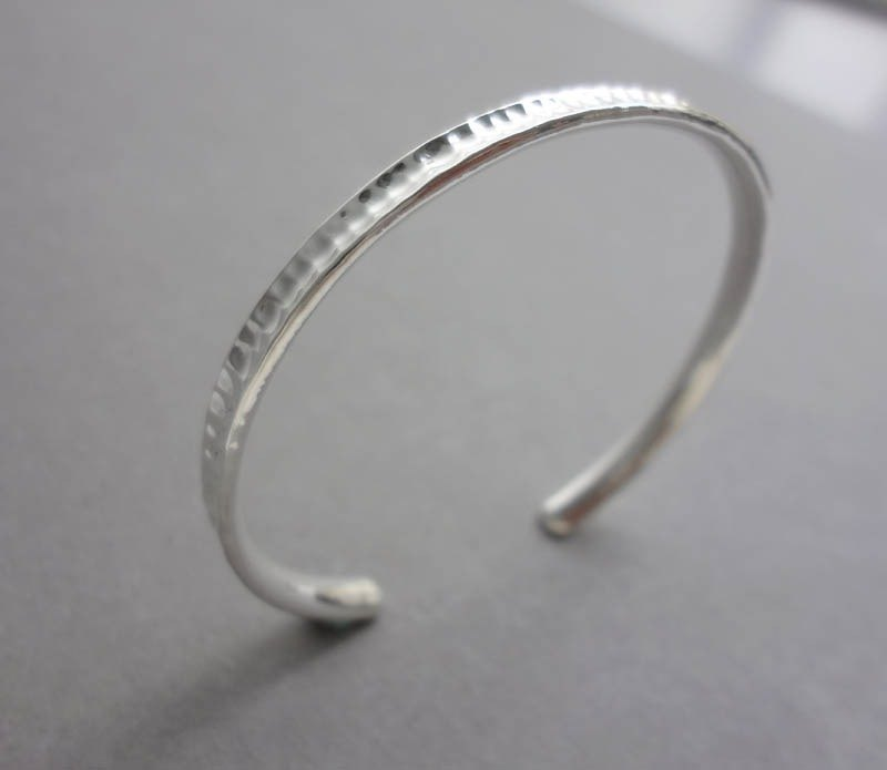 Hand-forged Knockout No. 10 Silver Bracelet