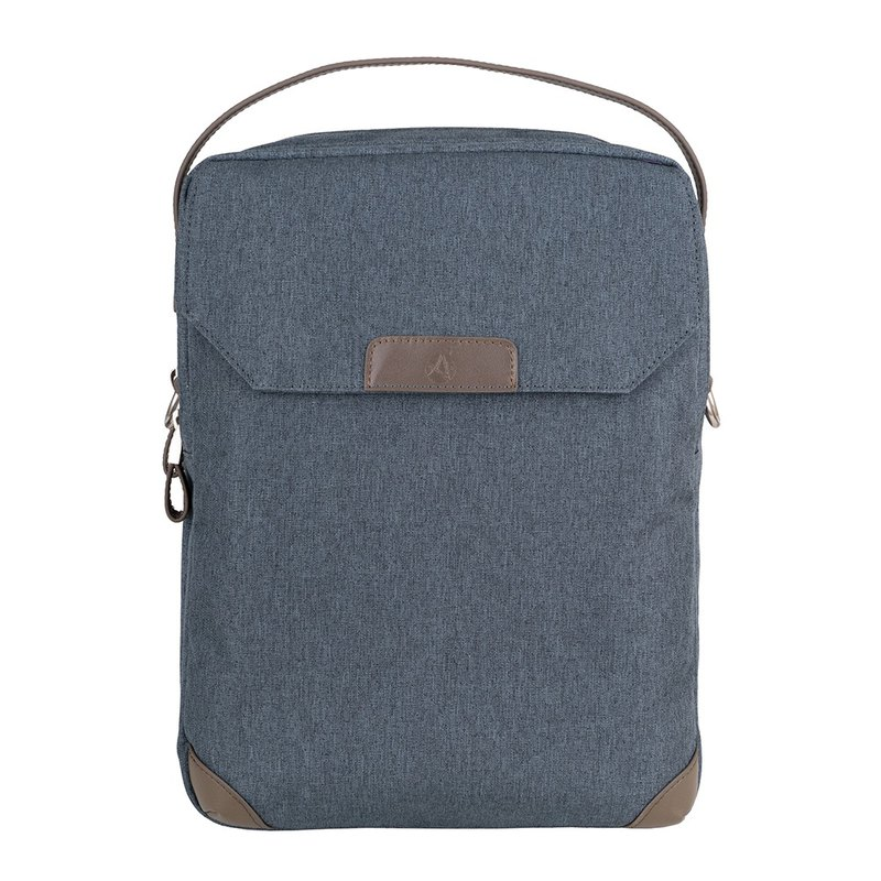 Welfare goods - Walker light business traveler four shoulders / back / side back / handbag - gray blue green