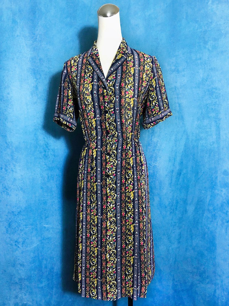 Totem Short Sleeve Vintage Dress / Bring back VINTAGE abroad