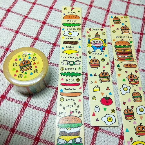 Happy Food Burgerburger / Paper Tape