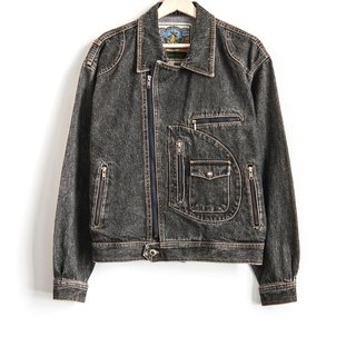Vintage Denim Heavy Knight Short Denim Vintage Jacket