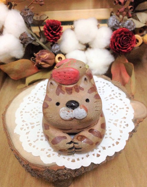 Manager Cat Pottery - Chubby Cat My Kitty