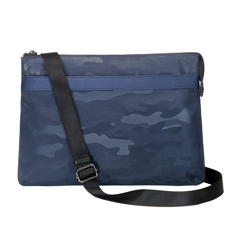 Clearance-Amore Urban Camouflage Clutch Bag Blue