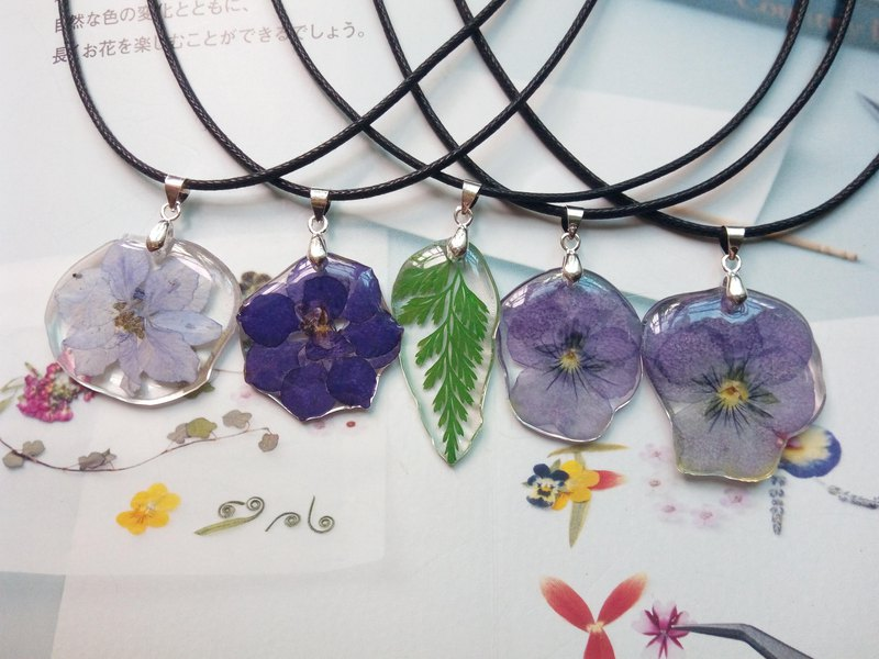 Handmade with flowers, Natural necklace with Real Flower, Botanical gift for her