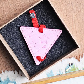 Bookmark star pattern leather material package triangle bookmark Wenqing reading person DIY engraved name