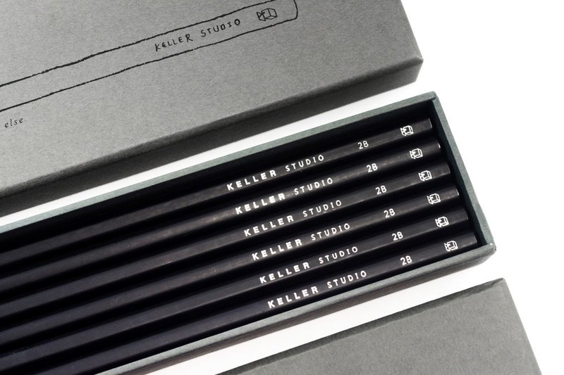 Designer 2B Pencil Set - Dark Grey