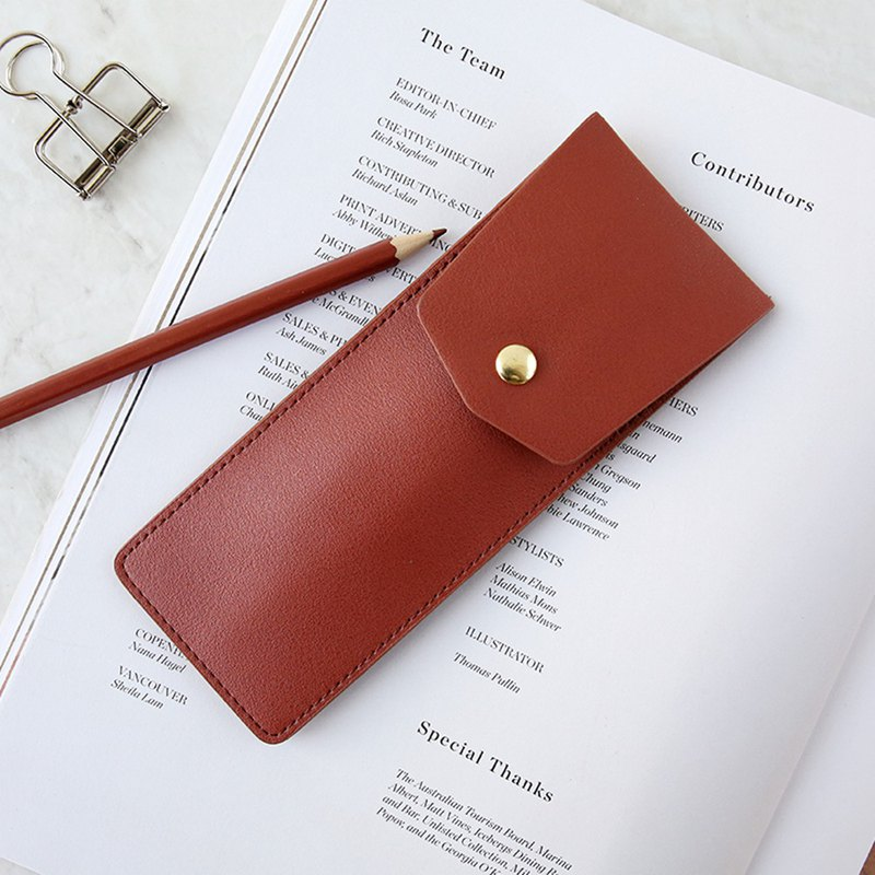 Letter of lovers simple leather pencil case THE VIEW series CLOUDY stationery bag pen inserted girls