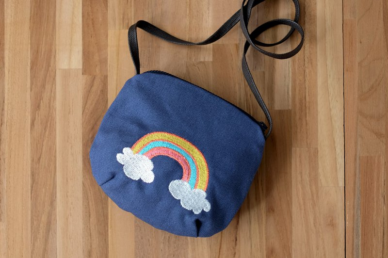 Rainbow Cloud Embroidery Bag