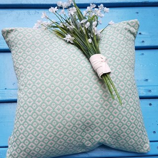 Nordic style retro green geometric pattern pillow / pillow