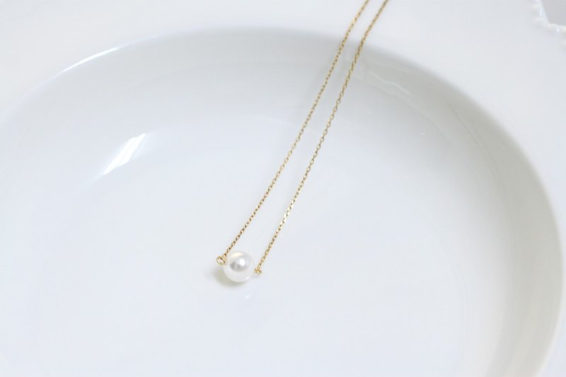 LOVE single Swarovski crystal pearl necklace