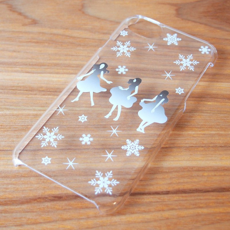 Clear iPhone case - Dance with Snow -
