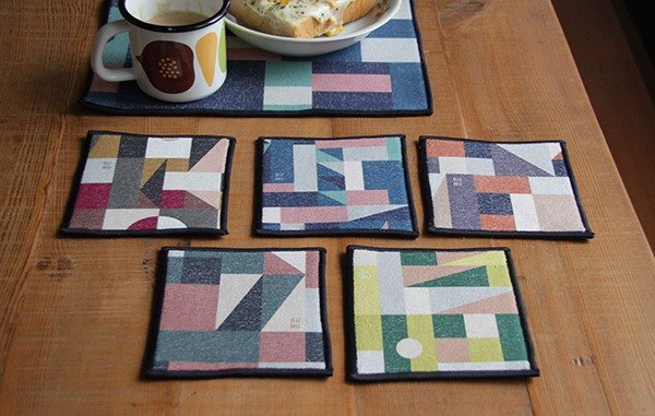 Towel coasters - in pairs (set of 2)