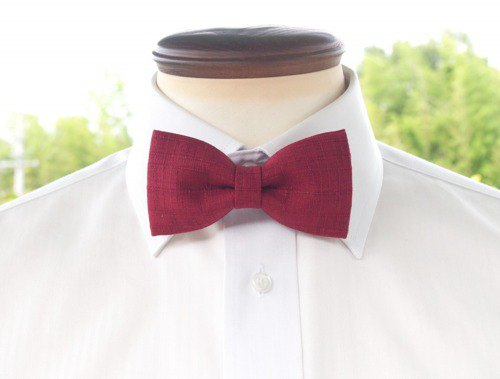 TATAN Japanese style change weave bow tie (red)