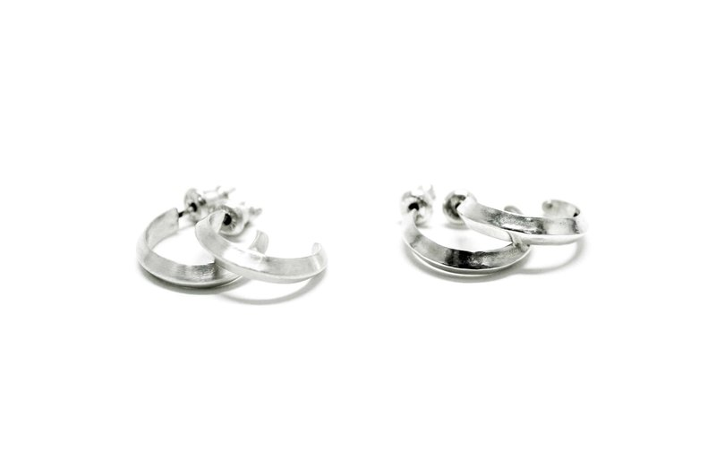Sharp earring Sterling Silver Earrings (Large)