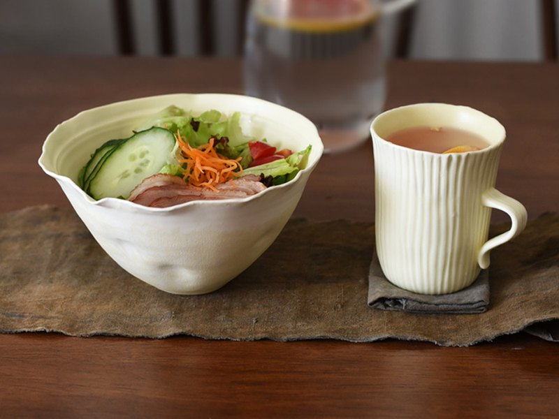 Off-the-Shelf Series Creative Design Handmade Salad Bowl Soup Bowl Noodle Bowl Household Tableware