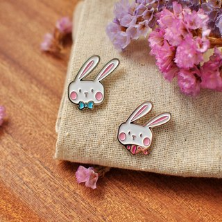 [Series] BONA SUMAIRU Bunny metallic paint badge / brooch ★ BONAS rabbit group (group two)