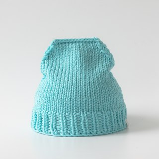 OTB112 Ladder Hand-knitted Cap - Lake Green