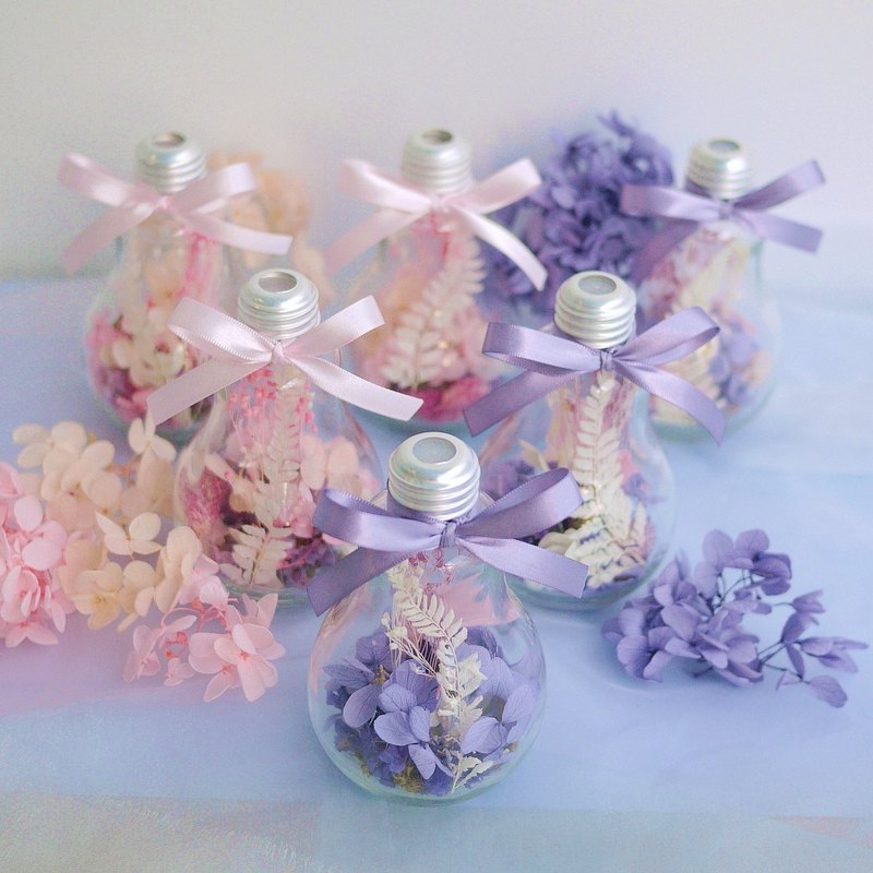 Pieces of praise - retro silver glass bulbs do not withered hydrangea pollen / purple wedding small things