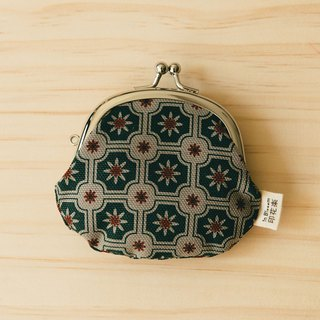 "3.3"" Clasp Frame Bag/Old Ceramic Tile No.2/Garden Topiary"