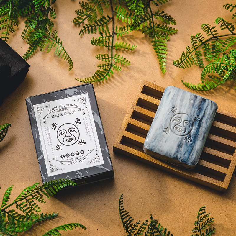 Bamboo Charcoal Extracted with Soap Bar. Take a Deep Breath of the Scalp [Spring Soap DACHUN] 125g
