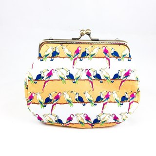 Yellow and white Bluebird meets the golden package / camera bag / cosmetic bag / sundries package