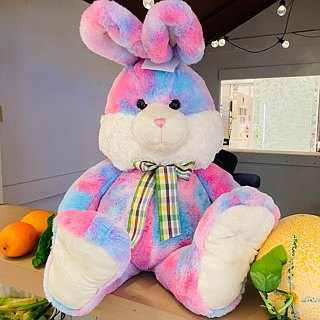 CANDY BEAR 25-inch long-legged rabbit - bubble gum