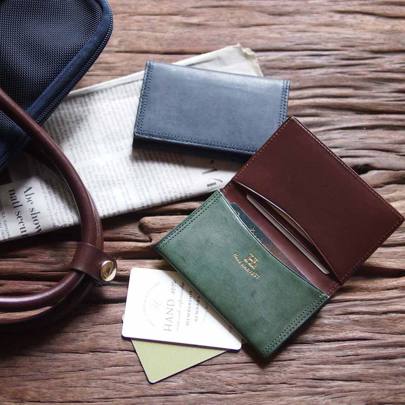 Japanese staff hand pocket leather multi-layer business card holder By Harvest label Japan