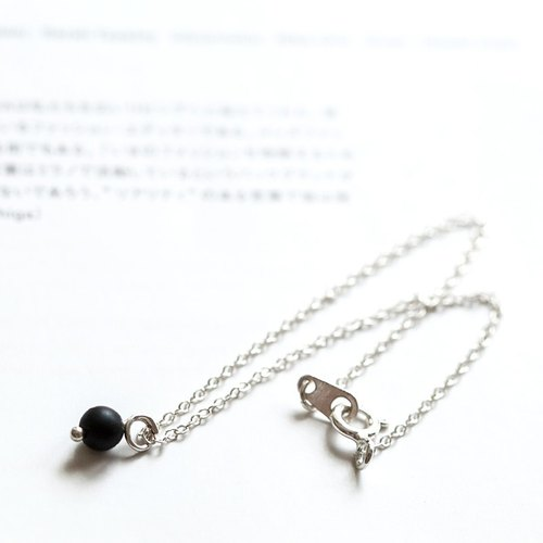 "Sterling Silver Black Onyx Bracelet ""Small Chain Club"" BSV002"