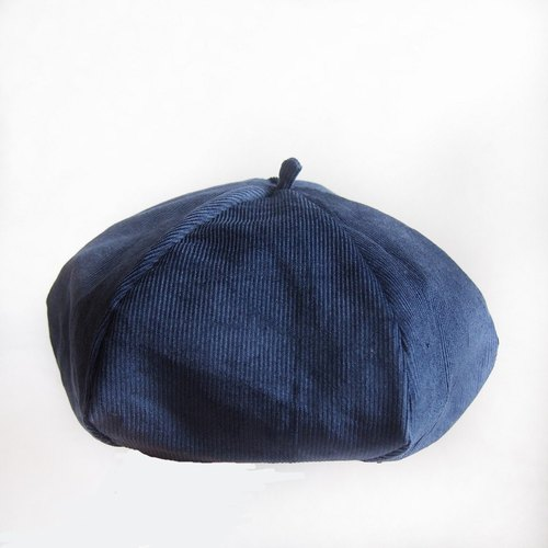 Be a Painter -Handmade Beret | Double sided (Navy)