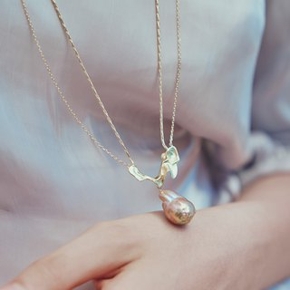 金色浪花珍珠項鍊 Gold Prearl Spray Necklace