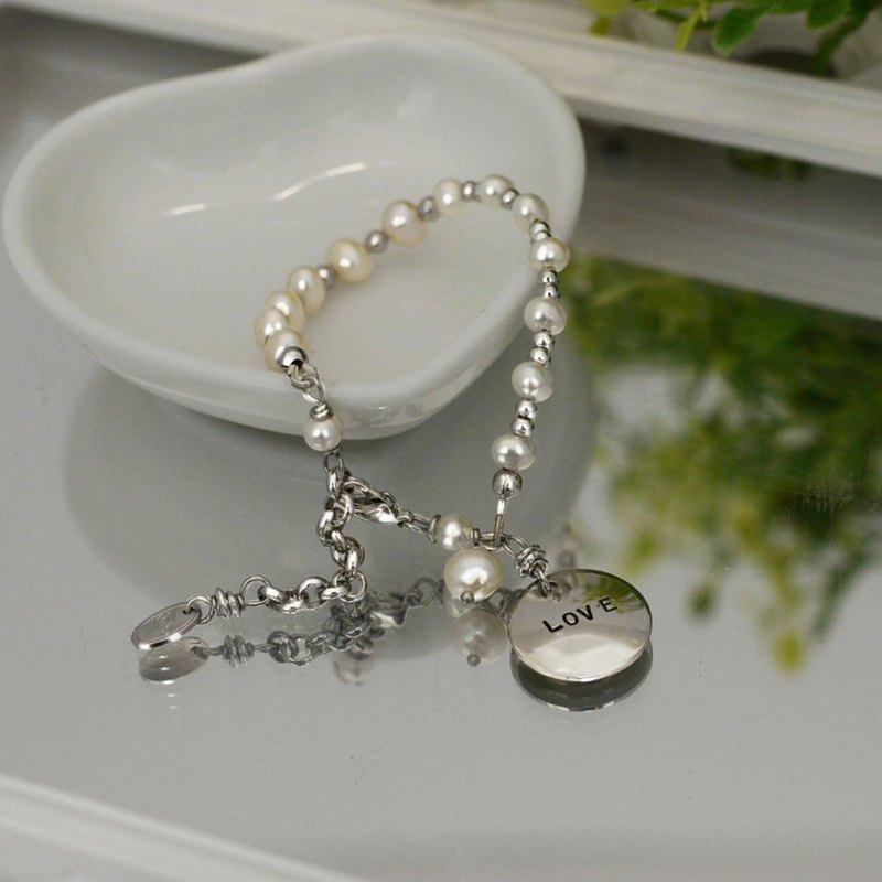 【happy. Happy] Lucky Bracelet - Kids Edition Lucky Stone Pearl Commemorative Engraved Customized Gift