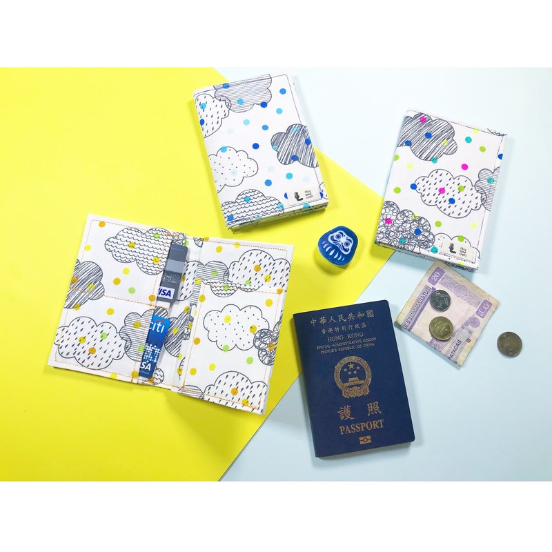 Handmade Passport Holder - Cloud