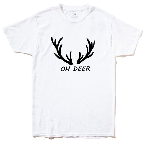 OH DEER WHITE T SHIRT