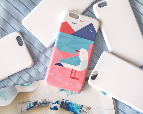 Geometric Seagull iPhone case
