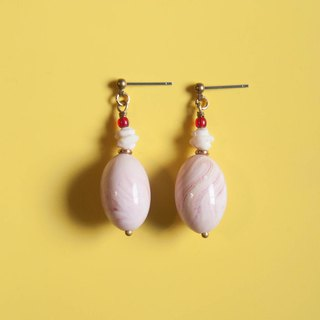 Strawberry Mousse Cake Earrings