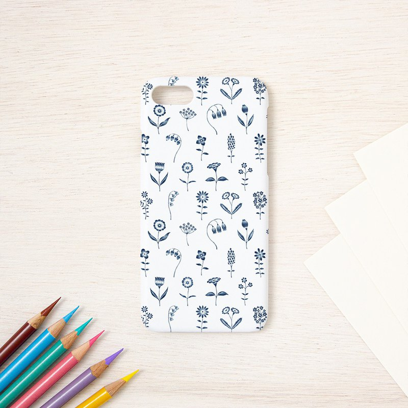 "Smartphone case ""Blue flowers"" SC-155"