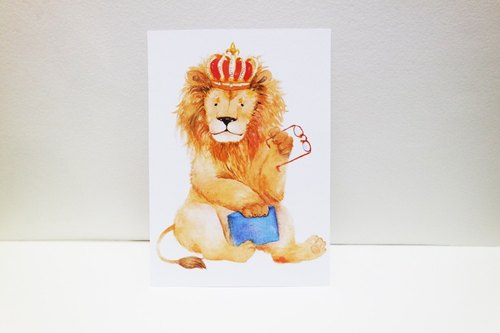 The Lion King glasses postcard