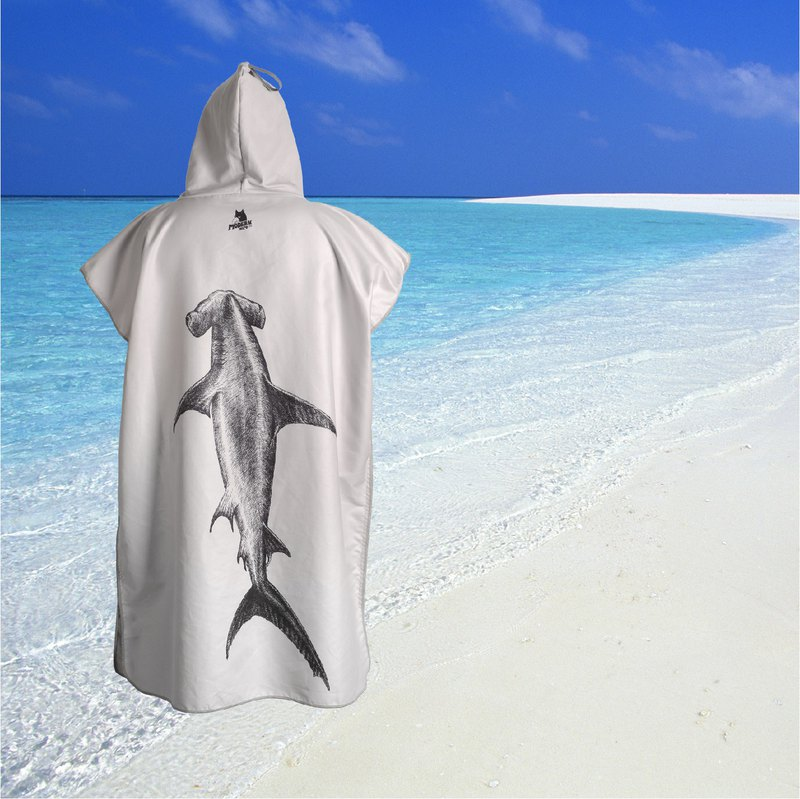 Modern More Surf Poncho Changing Towel Robe Hood Artist Design Pattern